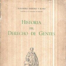 Libros de segunda mano: NOCIONES DE HISTORIA DEL DERECHO DE GENTES Y DE LAS RELACIONES INTERNACIONALES.ALEJANDRO HERRERO1954. Lote 114773847