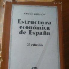 Libros de segunda mano: ESTRUCTURA ECONÓMICA DE ESPAÑA: SOCIEDAD DE ESTUDIOS Y PUBLICACIONES 1.965. RAMÓN TAMAMES. Lote 114900819