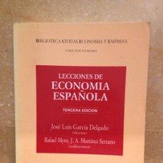 Libros de segunda mano: LECCIONES DE ECONOMÍA ESPAÑOLA (JOSÉ LUIS GARCÍA DELGADO) 3A EDICION - EDITORIAL CIVITAS -. Lote 115091603
