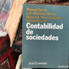 Libros de segunda mano: CONTABILIDAD DE SOCIEDADES. M. FERRER. ARIEL. Lote 115154191