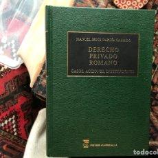 Libros de segunda mano: DERECHO PRIVADO ROMANO. CASOS,ACCIONES,INSTITUCIONES. M. JESÚS Gª GARRIDO. Lote 115154534