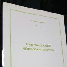 Libros de segunda mano: INVESTIGACION DE MERCADOS/MARKETING. LUIS BARON LARRARTE. ICAI 1988.. Lote 115412999
