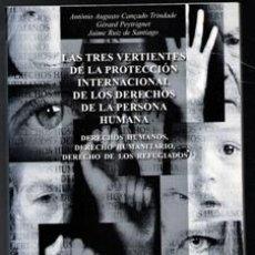 Libros de segunda mano: LAS TRES VERTIENTES DE LA PROTECCIÓN INTERNACIONAL DE LOS DERECHOS DE LA PERSONA HUMANA, VVAA. Lote 115436344