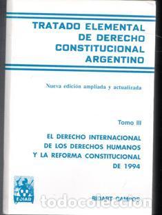 tratado elemental de derecho constitucional argentino bidart campos