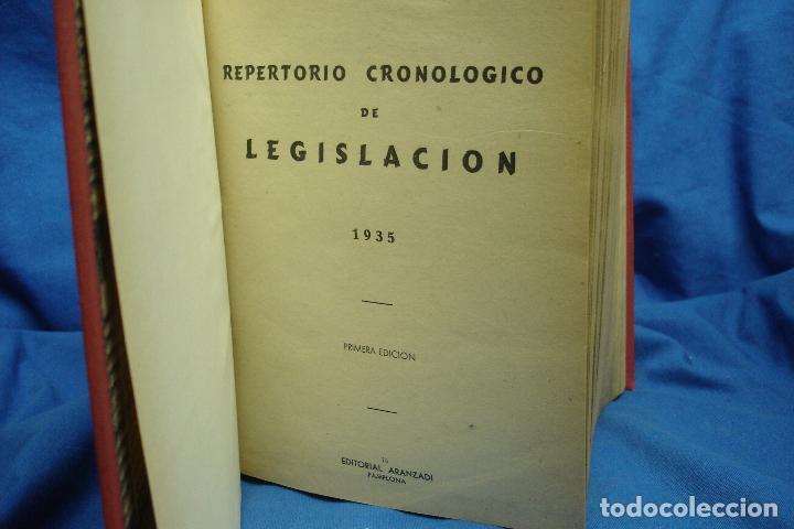 Libros de segunda mano: REPERTORIO CRONOLÓGICO DE LEGISLACIÓN - AÑO 1935 PRIMERA EDICIÓN - ED. ARANZADI - Foto 3 - 115620831