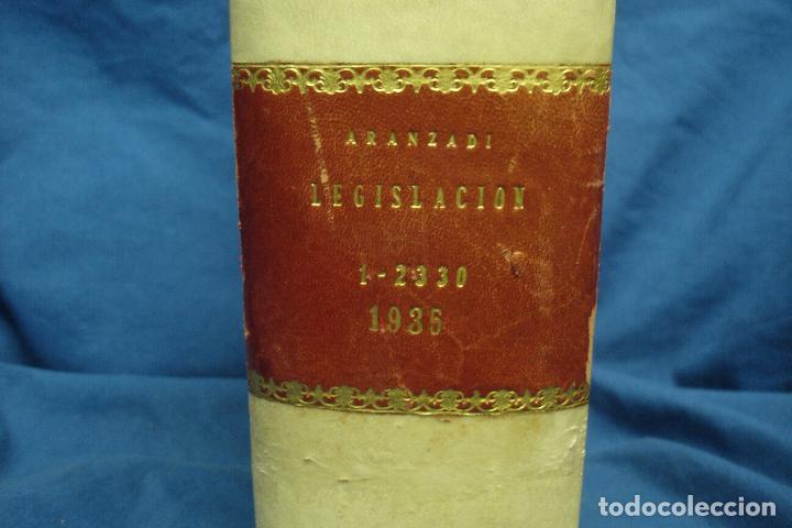 Libros de segunda mano: REPERTORIO CRONOLÓGICO DE LEGISLACIÓN - AÑO 1935 PRIMERA EDICIÓN - ED. ARANZADI - Foto 4 - 115620831