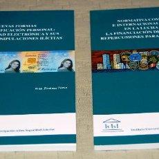 Libros de segunda mano: LOTE FORMADO POR DOS LIBROS EDITADOS POR IUISI, PARA LA GUARDIA CIVIL.. Lote 116232059