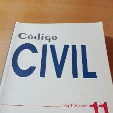 Libros de segunda mano: CÓDIGO CIVIL, SEPTIEMBRE 2011, LA LEY, INCLUYE CLAVE DE DESCARGA DE E-BOOK Y ACCESO INTERNET. Lote 116349059
