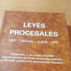 Libros de segunda mano: LEYES PROCESALES, LA LEY, FEBRERO 2010. Lote 116349415