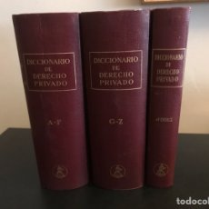 Libros de segunda mano: DICCIONARIO DE DERECHO PRIVADO. TRES TOMOS. COMPLETA. EDITORIAL LABOR. Lote 116517115