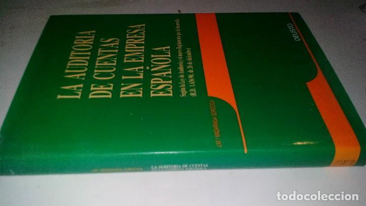 LA AUDITORIA DE CUENTAS EN LA EMPRESA ESPAÑOLA-JUAN MARÍA MADARIAGA GOROCICA-DEUSTO 1991 (Libros de Segunda Mano - Ciencias, Manuales y Oficios - Derecho, Economía y Comercio)