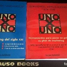 Libros de segunda mano: UNO X UNO: 2 LIBROS DE MARKETING. DON PEPPERS, MARTHA ROGERS Y BOB DORF. VERGARA 2000.. Lote 118445235