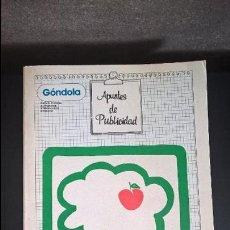 Libros de segunda mano: TEORIA Y PRACTICA DE LA PUBLICIDAD. APUNTES DE PUBLICIDD. AMADO J. ANDRES. GÓNDOLA 1981.. Lote 118570951