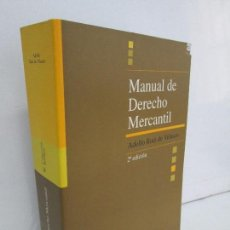 Libros de segunda mano: MANUAL DE DERECHO MERCANTIL. ADOLFO RUIZ DE VELASCO. UNIVERSIDAD PONTIFICA COMILLAS 2003.. Lote 118742499