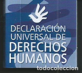 MINI LIBRO MINIATURA COLECCION MINILIBROS DERECHOS HUMANOS CGAE 2005 DECLARACION UNIVERSAL (Libros de Segunda Mano - Ciencias, Manuales y Oficios - Derecho, Economía y Comercio)