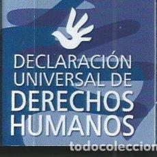 Libros de segunda mano: MINI LIBRO MINIATURA COLECCION MINILIBROS DERECHOS HUMANOS CGAE 2005 DECLARACION UNIVERSAL. Lote 119151939