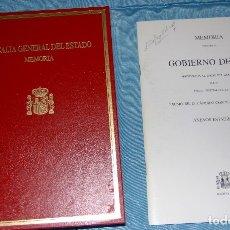 Libros de segunda mano: MEMORIA DE LA FISCALÍA GENERAL DEL ESTADO, ANEXOS ESTADÍSTICOS DEL AÑO 2002 Y 2006.. Lote 119084203