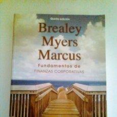 Libros de segunda mano: FUNDAMENTOS DE FINANZAS CORPORATIVAS – AUTORES:BRADLEY , MYERS Y MARCUS.. Lote 119504743