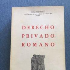 Libros de segunda mano: DERECHO PRIVADO ROMANO - PABLO FUENTESECA 1978. Lote 120037540
