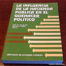 Libros de segunda mano: LA INFLUENCIA DE LA HACIENDA PUBLICA EN EL QUEHACER POLÍTICO ED.HANS M. VAN DE KARY,BÁRBARA L. WOLFE. Lote 120275775