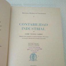 Libros de segunda mano - BIBLIOTECA MODERNA DE CONTABILIDAD-J.VICENS CARRIO,EDITOR J.BRUGUER 1946 - 120609600
