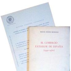 Libros de segunda mano: EL COMERCIO EXTERIOR DE ESPAÑA (1940-1960) / MANUEL FUENTES IRUROZQUI. MADRID : DIANA, 1962. CARTA. Lote 121290239