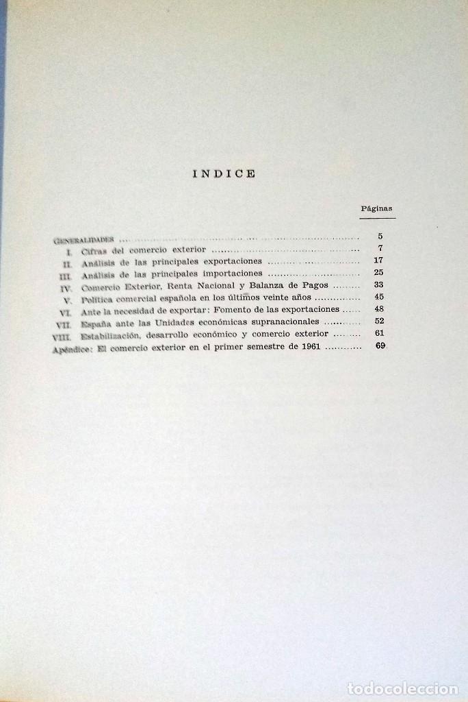 Libros de segunda mano: EL COMERCIO EXTERIOR DE ESPAÑA (1940-1960) / MANUEL FUENTES IRUROZQUI. MADRID : DIANA, 1962. CARTA - Foto 3 - 121290239