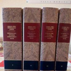 Libros de segunda mano: DERECHO CIVIL: ESTUDIOS, COMENTARIOS Y NOTAS. 4 TOMOS. M. PEÑA BERNALDO DE QUIRÓS. Lote 122178270
