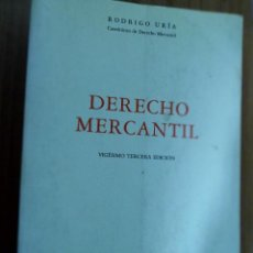 Libros de segunda mano: DERECHO MERCANTIL. RODRIGO URÍA. MARCIAL PONS 1996. Lote 122203003
