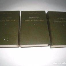 Libros de segunda mano: DICTAMENES DE DERECHO MERCANTIL 3 TOMOS DE JOAQUÍN GARRIGUES (1976). Lote 122302723