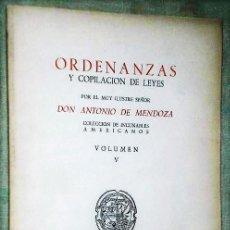 Libros de segunda mano: ORDENANZAS Y COPILACIÓN DE LEYES. Lote 123036763