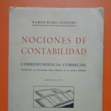 Libros de segunda mano: NOCIONES DE CONTABILIDAD, Y CORRESPONDENCIA OFICIAL 1953. Lote 123052154