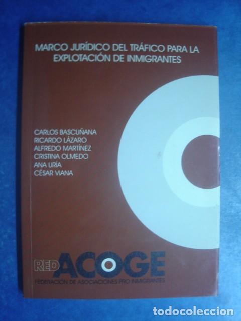 MARCO JURÍDICO DEL TRÁFICO PARA LA EXPLOTACIÓN DE INMIGRANTES. C. BASCUÑANA Y OTROS. RED ACOGE 2002 (Libros de Segunda Mano - Ciencias, Manuales y Oficios - Derecho, Economía y Comercio)