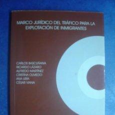 Libros de segunda mano: MARCO JURÍDICO DEL TRÁFICO PARA LA EXPLOTACIÓN DE INMIGRANTES. C. BASCUÑANA Y OTROS. RED ACOGE 2002. Lote 123083723
