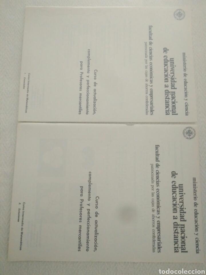 Libros de segunda mano: CAJA AHORRO CURS ECONOMICAS EMPRESARIALE.CURSO INTERMEDIO DE.MATEMATICAS 1 ENUNCIADOS Y 2 SOLUCIONES - Foto 2 - 123576459
