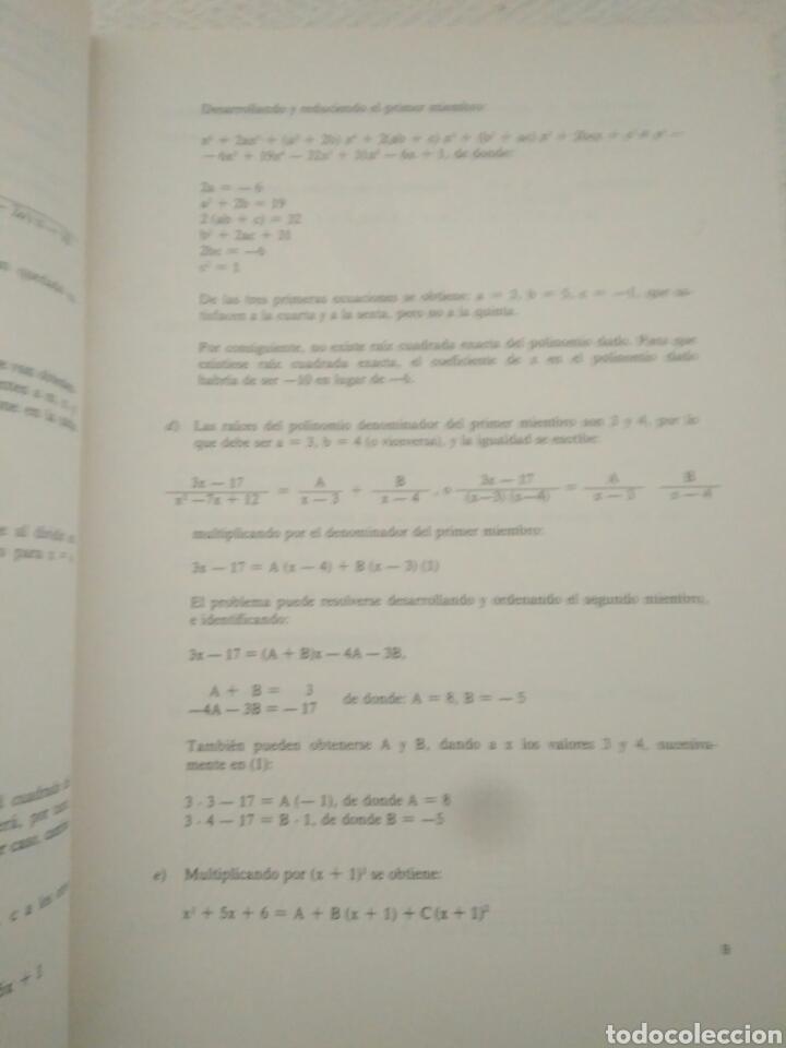 Libros de segunda mano: CAJA AHORRO CURS ECONOMICAS EMPRESARIALE.CURSO INTERMEDIO DE.MATEMATICAS 1 ENUNCIADOS Y 2 SOLUCIONES - Foto 4 - 123576459