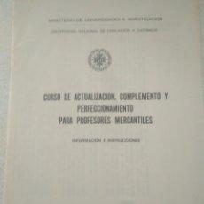 Libros de segunda mano: CURSO ECONOMICAS EMPRESARIALE.CURSO CAJA DE AHORRO INFORMACION INSTRUCCIONES. CURSO 1979-80. Lote 123577931
