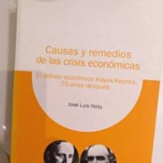 Libros de segunda mano: CAUSAS Y REMEDIOS DE LAS CRISIS ECONOMICAS JOSE LUIS FEITO. Lote 124453888