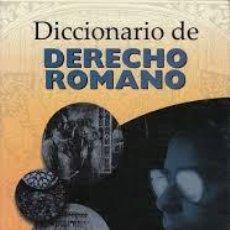 Libros de segunda mano: DICCIONARIO DE DERECHO ROMANO. ÁNGEL HUGO GUERRIERO. Lote 124534715
