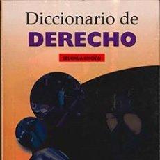Libros de segunda mano: DICCIONARIO DE DERECHO. LAURA CASADO. Lote 124536819