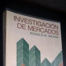 Libros de segunda mano: INVESTIGACION DE MERCADOS. RONALD M. WEIERS. PRENTICE HALL 1986 PRIMERA EDICION.. Lote 126333339