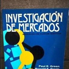 Libros de segunda mano: INVESTIGACION DE MERCADOS: APLICACION DE NUEVAS TECNICAS.PAUL E. GREEN Y RONALD E. FRANK.LIMUSA 1980. Lote 127625679