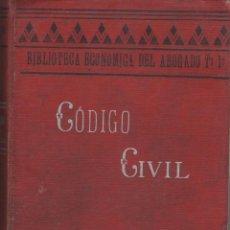 Libros de segunda mano: CÓDIGO CIVIL ESPAÑOL TOMO 1 - DR. ALEJO GARCÍA MORENO - 727 PÁGINAS MADRID 1906 FN80. Lote 127794547