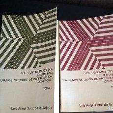 Libros de segunda mano: LUIS ANGEL SANZ DE LA TAJADA. LOS FUNDAMENTOS DEL MARKETING Y ALGUNOS METODOS DE INVESTIGACION COMER. Lote 127847075