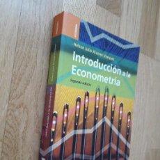 Libros de segunda mano: INTRODUCCIÓN A LA ECONOMETRÍA / NELSON JULIO ÁLVAREZ VÁZQUEZ. Lote 127847927