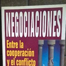 Libros de segunda mano: NEGOCIACIONES: ENTRE LA COOPERACIÓN Y EL CONFLICTO. ALFRED FONT BARROT. GRIJALBO 1997. . Lote 127858631