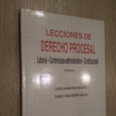 Libros de segunda mano: LECCIONES DE DERECHO PROCESAL.JOSE ALMAGRO NOSETE. PABLO SAAVEDRA GALLO 1991. Lote 127890547