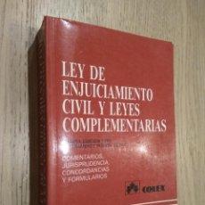 Libros de segunda mano: LEY DE ENJUICIAMIENTO CIVIL Y LEGISLACIÓN COMPLEMENTARIA 1989 COLEX. Lote 127891151