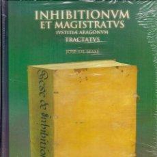 Libros de segunda mano: JOSÉ DE SESSÉ : INHIBITIONUM ET MAGISTRATIS IUSTITIAE ARAGONUM TRACTATUS. (EDICIÓN FACSÍMILE. 2003). Lote 127913279