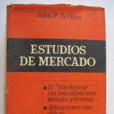Libros de segunda mano: ESTUDIOS DE MERCADO. PROCEDIMIENTOS, METODOS Y TECNICAS. TOMO II - ALEVIZOS, JOHN P. 2ª EDICIÓN. Lote 128706971
